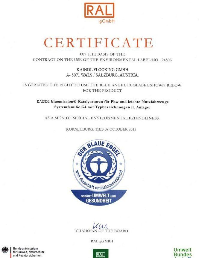 Các chứng nhận sàn gỗ công nghiệp Kaindl