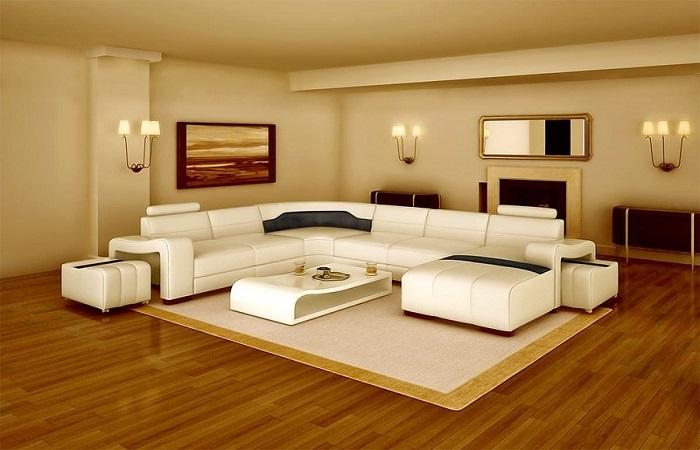 Sàn gỗ phù hợp với không gian phòng khách