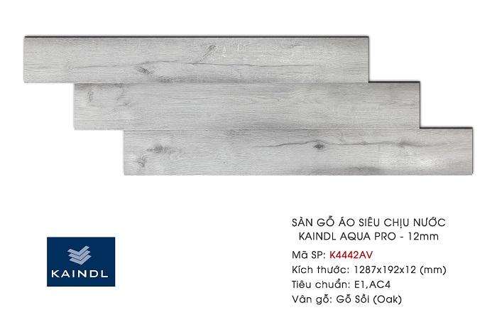 Sàn gỗ Kaindl cho phòng khách hiện đại