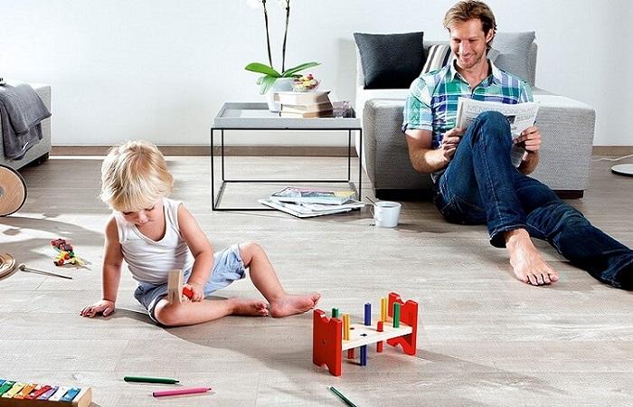 Sàn gỗ Kaindl hợp với gia đình có trẻ nhỏ